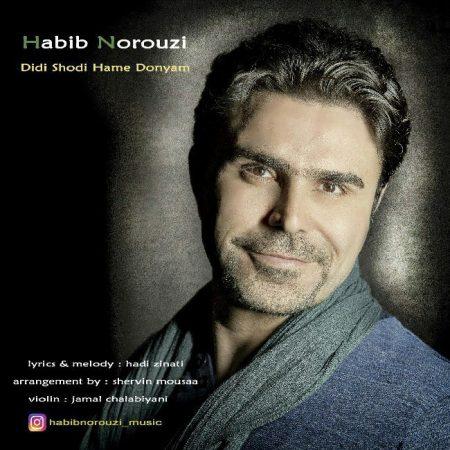 آهنگ جدید حبیب نوروزی به نام دیدی شدی همه دنیام
