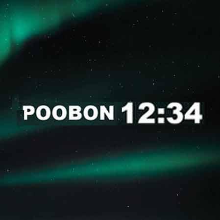 آهنگ جدید پوبون به نام 12:34